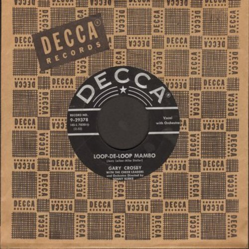 Crosby, Gary - Loop-De-Loop Mambo/Palsy Walsy (with vintage Decca company sleeve) - EX8/ - 45 rpm Records