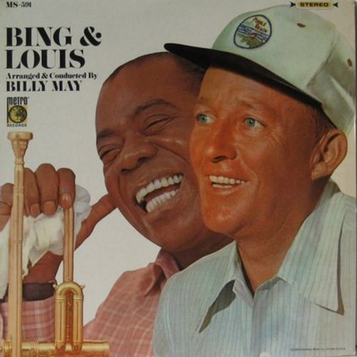 Crosby, Bing & Louis Armstrong - Bing & Louis: Muskrat Ramble, Sugar, Preacher, Dardanella, Brother Bill, At The Jazz Band Ball, At The Jazz Band Ball (Vinyl STEREO LP record) - NM9/NM9 - LP Records