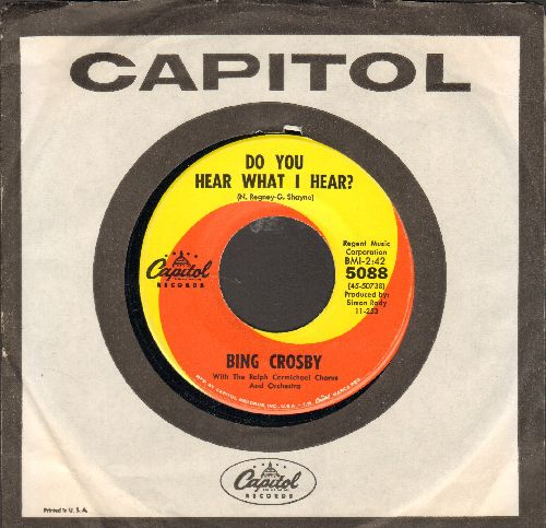 Crosby, Bing - Do You Hear What I Do/Christmas Dinner Country Style (with Capitol company sleeve) - NM9/ - 45 rpm Records