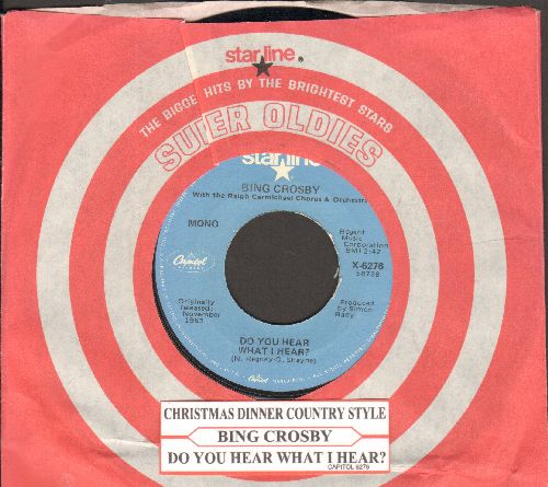 Crosby, Bing - Do You Hear What I Do/Christmas Dinner Country Style (blue label re-issue with Capitol company sleeve) - EX8/ - 45 rpm Records