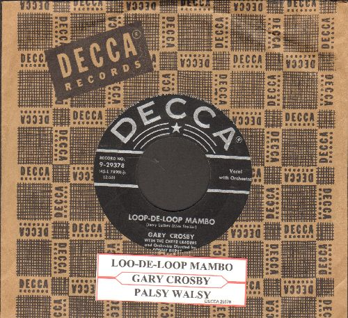 Crosby, Gary - Loo-De-Loop Mambo/Palsy Walsy (with juke box labela and vintaf=ge Decca company sleeve) - VG7/ - 45 rpm Records