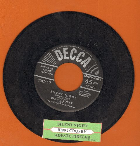 Crosby, Bing - Silent Night/Adeste Fideles (silver star/lines label with juke box label) - VG6/ - 45 rpm Records