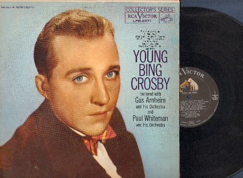 Crosby, Bing - Young Bing Crosby: Ol' Man River, Wrap Your Troubles In Dreams (And Draem Your Troubles Away), Them There Eyes (vinyl MONO LP record, 1959 first pressing) - EX8/EX8 - LP Records