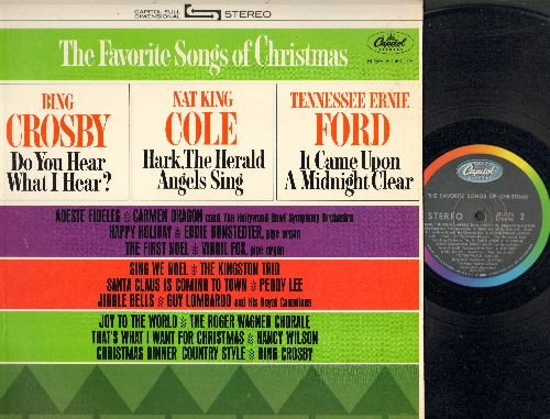 Crosby, Bing, Nat King Cole, Peggy Lee, others - The Favorite Songs Of Christmas: Santa Claus Is Coming To Town, The First Noel, Happy Holiday, Jingle Bells (vinyl STEREO LP record) - EX8/EX8 - LP Records