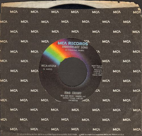 Crosby, Bing - Anniversary Song/Happy Birthday/Auld Lang Syne (1970s re-issue of vintage recordings with MCA company sleeve) - NM9/ - 45 rpm Records