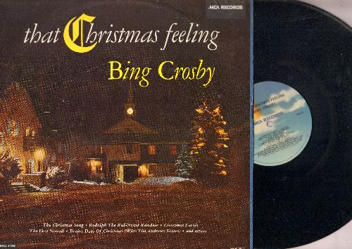 Crosby, Bing - That Christmas Feeling: The Christmas Song, Rudolph The Red-Nosed Reindeer, Here Comes Santa Claus (Vinyl LP record, 1980s issue) - NM9/EX8 - LP Records