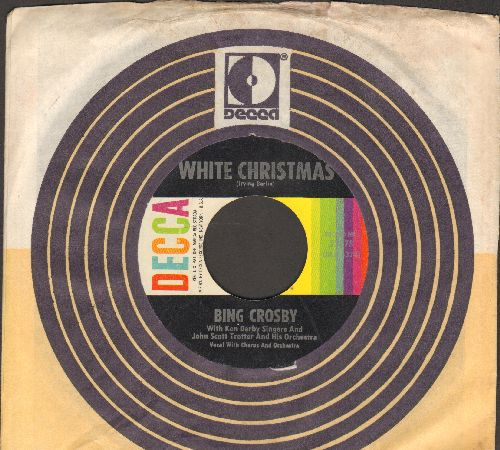 Crosby, Bing - White Christmas/God Rest Ye Merry Gentlemen (multi-color early 1960s issue with Decca company sleeve)  - NM9/ - 45 rpm Records