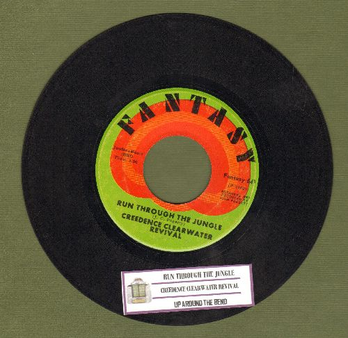 Creedence Clearwater Revival - Run Through The Jungle/Up Around The Bend (with juke box label) - EX8/ - 45 rpm Records