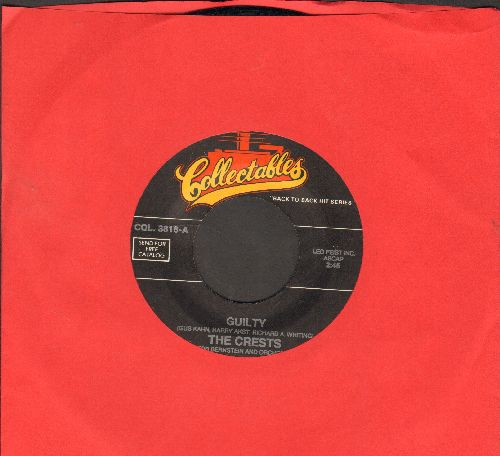 Crests - Guilty/Heart Breaking Moon (by The Victorians on flip-side) (re-issue) - NM9/ - 45 rpm Records