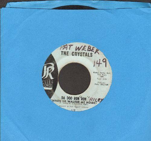 Crystals - Da Doo Ron Ron (When He Walked Me Home)/Git' It (light blue label early pressing, wol) - VG6/ - 45 rpm Records