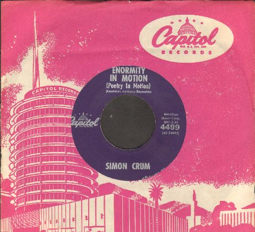 Crum, Simon - Enormity In Motion (Answer to -Poetry In Motion-)/Cuzz Yore So Sweet (with vintage Capitol company sleeve) - EX8/ - 45 rpm Records