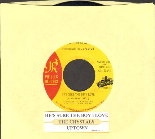 Crystals - He's Sure The Boy I Love/Uptown (authentic-looking double-hit reissue) - EX8/ - 45 rpm Records