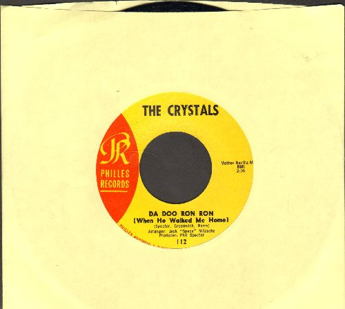 Crystals - Da Doo Ron Ron (When He Walked Me Home)/Git' It (yellow label pressing) - NM9/ - 45 rpm Records