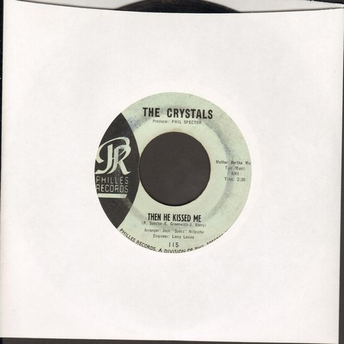 Crystals - Then He Kissed Me/Brother Julius (RARE light blue label EARLY pressing!)  - EX8/ - 45 rpm Records