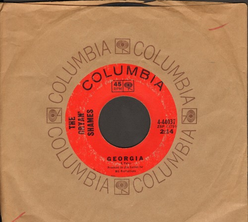 Cryan' Shames - Georgia/Mr. Unreliable (with Columbia company sleeve) - VG7/ - 45 rpm Records