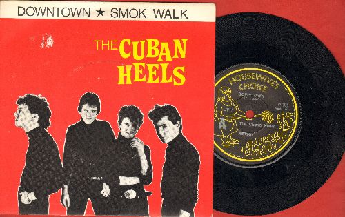 Cuban Heels - Downton/Smok Walk (British Pressing with picture sleeve, small spindle hole) - NM9/EX8 - 45 rpm Records