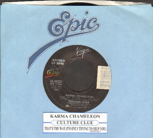 Culture Club - Karma Chameleon/That's The Way (with juke box label and company sleeve) - NM9/ - 45 rpm Records