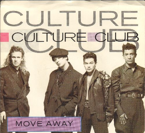 Culture Club - Move Away/Sexuality (with picture sleeve) - NM9/EX8 - 45 rpm Records