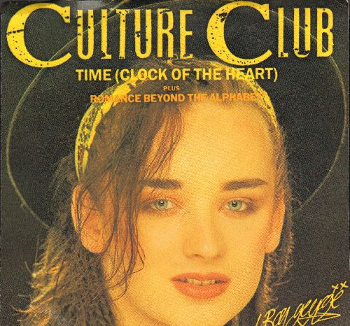 Culture Club - Time (Clock Of The Heart)/Romance Beyond The Alphabet (Time Instrumental) (with picture sleeve) - NM9/NM9 - 45 rpm Records