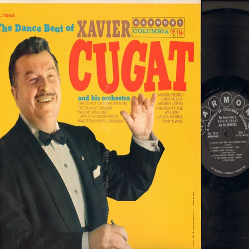 Cugat, Xavier & His Orchestra - The Dance Beat Of Xavier Cugat: The Peanut Vendor, Mambo Jambo, Linda Mujer (Vinyl LP record, re-issue of vintage recordings) - M10/EX8 - LP Records