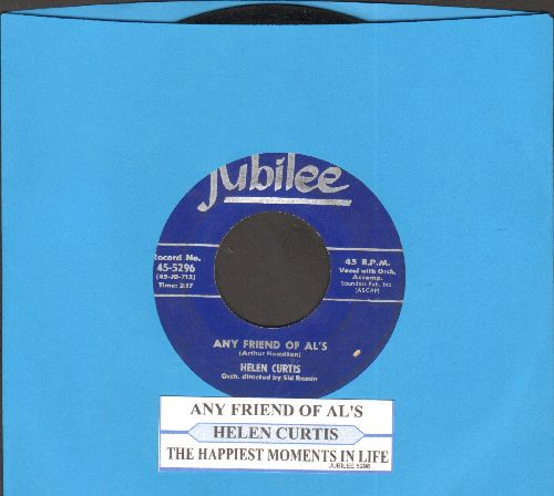 Curtis, Helen - Any Friend Of Al's/The Happiest Moments In Life (with juke box label) - VG7/ - 45 rpm Records