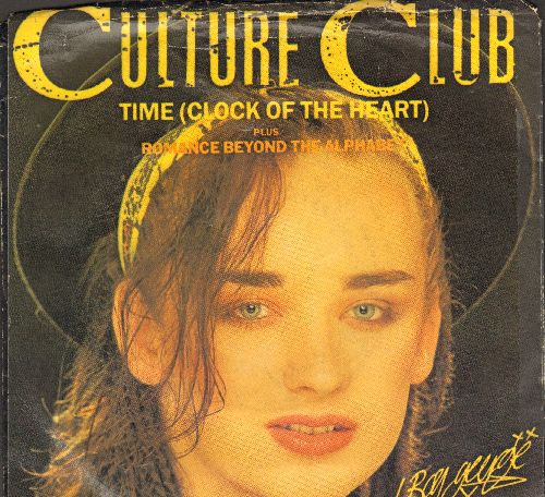 Culture Club - Time (Clock Of The Heart)/Romance Beyond The Alphabet (Time Instrumental) (with picture sleeve) - NM9/VG7 - 45 rpm Records