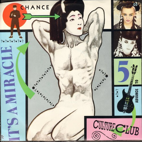 Culture Club - It's A Miracle/Love Twist (with picture sleeve) - NM9/NM9 - 45 rpm Records