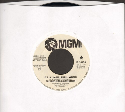 Curb, Mike Congregation - It's A Small Small World/Shinin' On Me (DJ advance pressing) - NM9/ - 45 rpm Records
