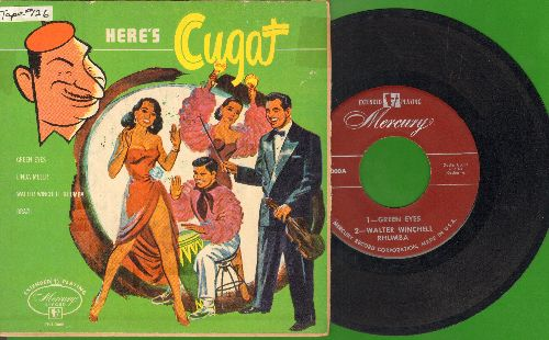 Cugat, Xavier & His Orchestra - Here's Cugat: Green Eyes/Linda Mujer/Brazil/Walter Winchell Rhumba (vinyl EP record with picture cover) - VG7/VG7 - 45 rpm Records