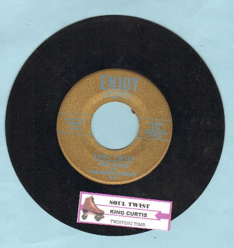 Curtis, King & The Noble Knights - Twisting Time/Soul Twist (with juke box label) - NM9/ - 45 rpm Records