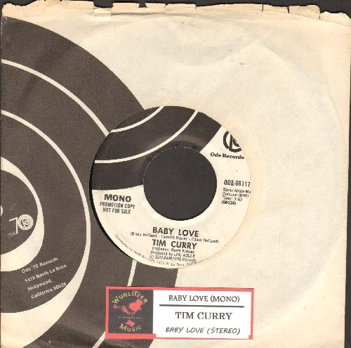 Curry, Tim - Baby Love (double-A-sided DJ advance pressing with Ode company sleeve and juke box label) - NM9/ - 45 rpm Records