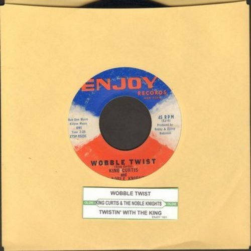 Curtis, King & The Noble Knights - Twistin' With The King/Wobble Twist - VG6/ - 45 rpm Records