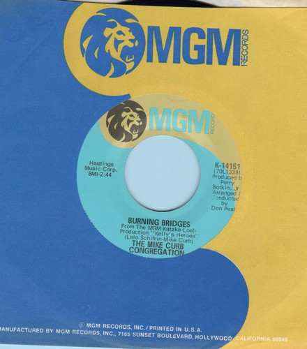 Curb, Mike Congregation - Burning Bridges/We'll Sing In The Sunshine (with MGM company sleeve) - M10/ - 45 rpm Records