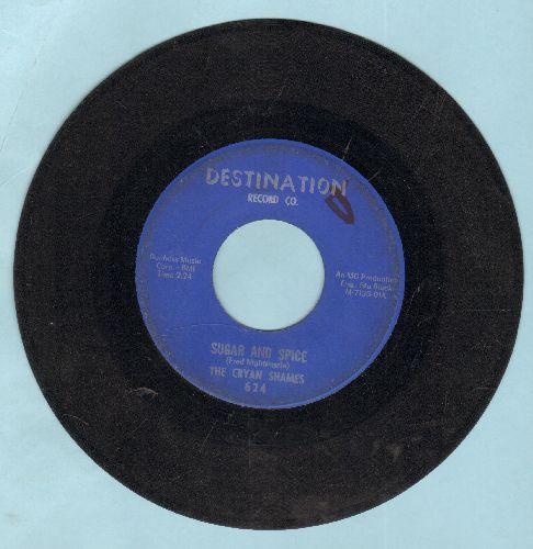Cryan' Shames - Sugar And Spice/Ben Franklin's Almanac - VG7/ - 45 rpm Records