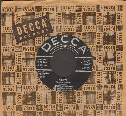 Cavallaro, Carmen - Brazil/To Love Again (with vintage Decca company sleeve) - EX8/ - 45 rpm Records