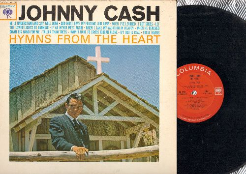 Cash, Johnny - Hymns From The Heart: I Won't Have To Cross Jordan Alone, These Hands, If We Never Meet Again, I Got Shoes (vinyl MONO LP record) - VG7/EX8 - LP Records