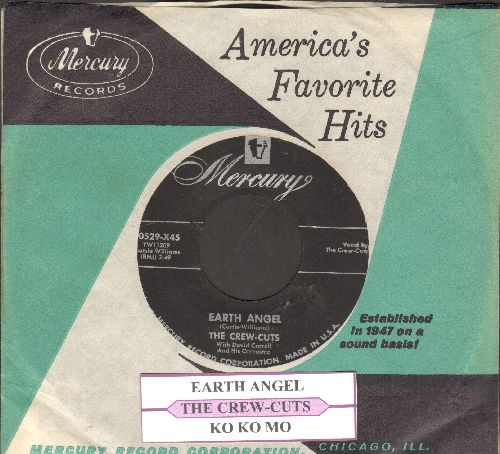 Crew-Cuts - Earth Angel/Ko Ko Mo (with juke box label and Mercury company sleeve) - EX8/ - 45 rpm Records