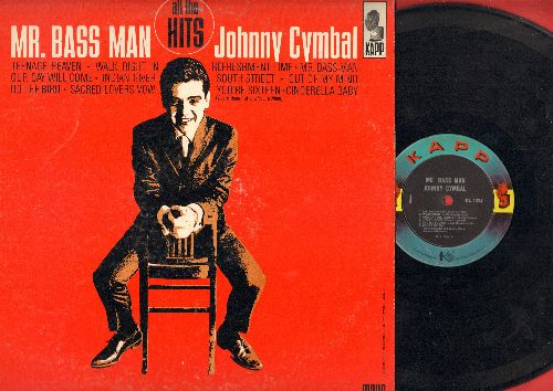 Cymbal, Johnny - Mr. Bass Man: Teenage Heaven, Walk Right In, Our Day Will Come, Indian Giver, You're Sixteen, Do The Bird, Cinderella baby, South Street (Vinyl MONO LP record, RARE 1963 first pressing!) - VG7/VG7 - LP Records