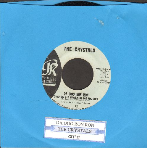 Crystals - Da Doo Ron Ron (When He Walked Me Home)/Git' It (light blue label early pressing) - EX8/ - 45 rpm Records