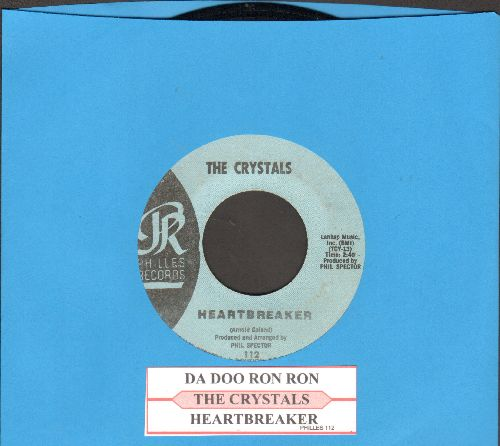 Crystals - Da Doo Ron Ron (When He Walked Me Home)/Heartbreaker (RARE alternate flip-sode!)(light blue label early pressing) - EX8/ - 45 rpm Records