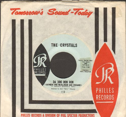 Crystals - Da Doo Ron Ron (When He Walked Me Home)/Git' It (light blue label early pressing with RARE Philles company sleeve) - EX8/ - 45 rpm Records