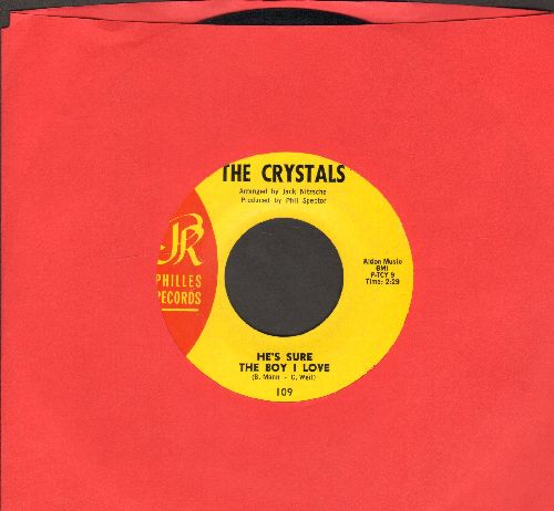Crystals - He's Sure The Boy I Love/Walkin' Along (La La La) (yellow label) - EX8/ - 45 rpm Records
