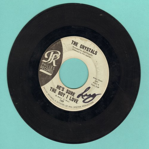 Crystals - He's Sure The Boy I Love/Walkin' Along (light blue with juke box label) (wol) - VG6/ - 45 rpm Records