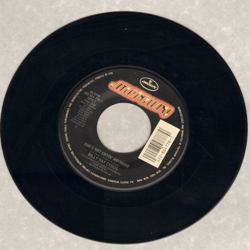 Cyrus, Billy Ray - She's Not Cryin' Anymore/Someday, Somewhere, Somehow (with juke box label) - NM9/ - 45 rpm Records