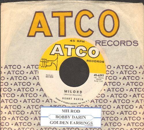 Darin, Bobby - Milord/Golden Earrings (with vintage Atco company sleeve and juke box label) - NM9/ - 45 rpm Records