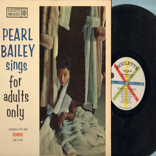 Bailey, Pearl - For Adults Only: She Had To Go And Lose It At The Astor, Zip, Let's Do It, Legalize My Name (Vinyl MONO LP record) - EX8/EX8 - LP Records