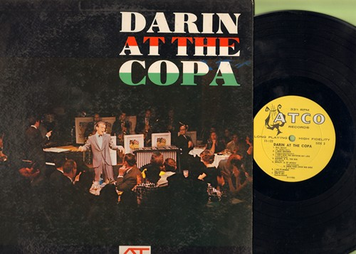 Darin, Bobby - At The Copa: Mack The Knife, Clementine, Dream Lover, That's All, Bill Bailey, Love For sale (Vinyl MONO LP record, yellow label, white harp early issue) - EX8/VG7 - LP Records
