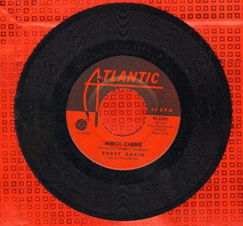 Darin, Bobby - Merci Cherie (NICE cover, WINNER Grand Prix Eurovision 1966 for singer/songwriter Udo Jurgens!)/Who's Afraid Of Virginia Wolf? (bb) - EX8/ - 45 rpm Records