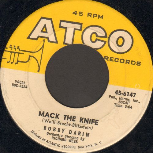 Darin, Bobby - Mack The Knife/Was There A Call For Me  - VG6/ - 45 rpm Records