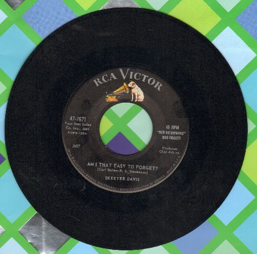 Davis, Skeeter - Am I That Easy To Forget?/WishfulThinking - EX8/ - 45 rpm Records